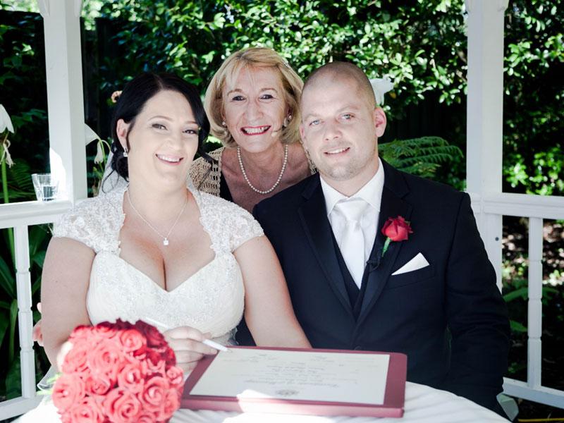 Yvonne Wood Wedding & Marriage Celebrant - Tributes - Katrina and Greg