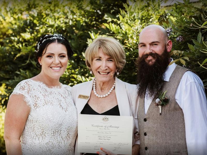 Yvonne Wood Wedding & Marriage Celebrant - Tributes - Matt and Michelle