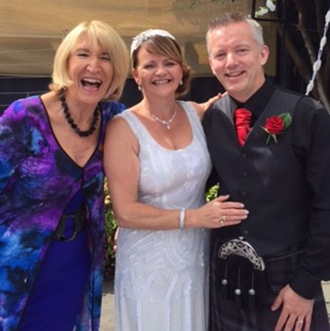 Yvonne Wood Wedding & Marriage Celebrant - Tributes - Michelle and Eddie