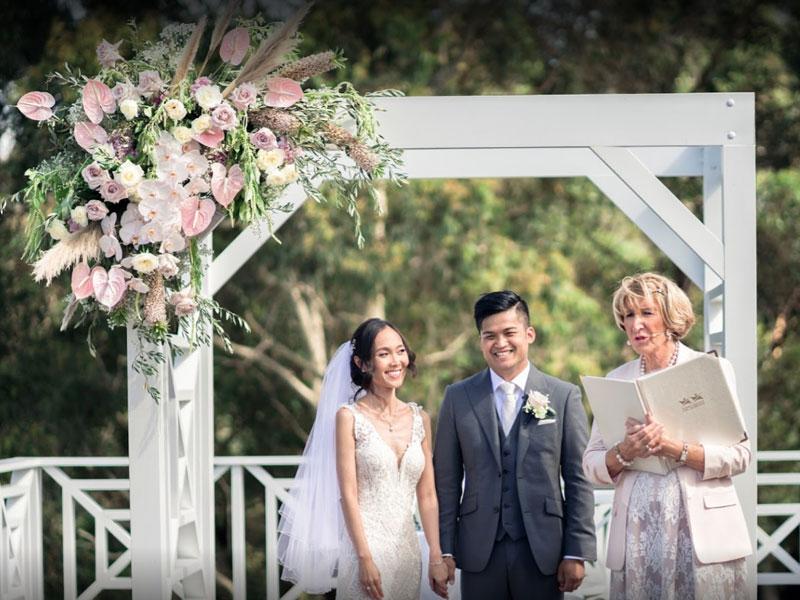 Yvonne Wood Wedding & Marriage Celebrant - Tributes - Tram and Bozz